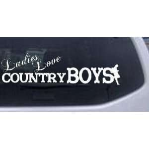 Ladies Love Country Boys Country Car Window Wall Laptop Decal Sticker