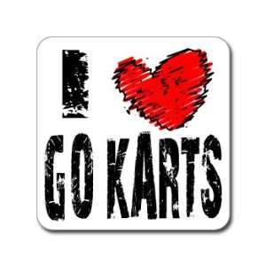 I Love Heart GO KARTS   Window Bumper Laptop Sticker