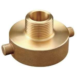 Brass Hydrant and Fire Hose Adapters Adapter,1 1/2 FNST x