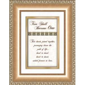 Wedding Anniversary Gift Two Shall Become One Framed Verse