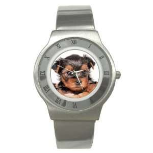 Yorkshire Terrier Puppy Dog 8 Stainless Steel Watch GG0655