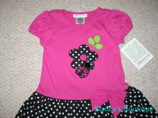 NEW LADYBUG DOT Tulle Dress Boutique Girls Clothes 4T