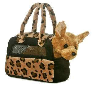 Fancy Pal Leopard Print Pet Carrier with Chihuahua 8