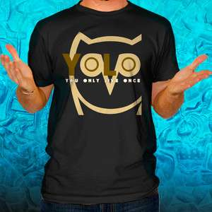 YOLO You Only Live Once OVO Take Care Drake T Shirt YMCMB ovoxo Black