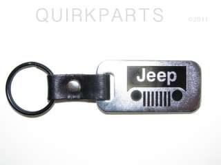 Jeep Wrangler Grand Cherokee Keychain GRILLE EMBLEM NEW