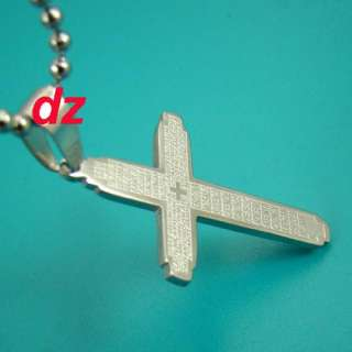 B5310 Mens Stainless steel Cross Style Chain Pendant Necklace Fashion