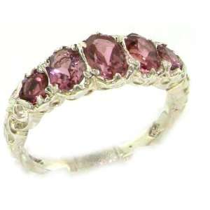 High Quality Solid White Gold Natural Pink Tourmaline