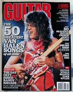 GUITAR WORLD April 2012 VAN HALEN 50 Greatest Songs DAY OZZY Hired
