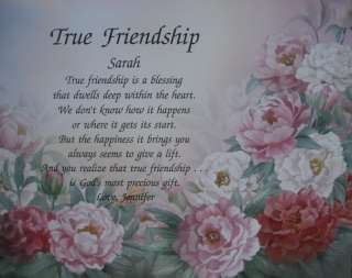 TRUE FRIENDSHIP PERSONALIZED POEM GIFT IDEA FOR FRIENDS