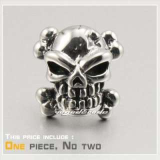 COOL Skull 316L Stainless Steel Mens Stud Earring 2H014