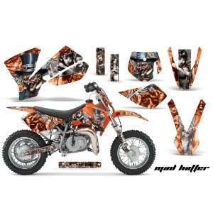 Amr Racing KTM Sx 50 Mx Dirt Bike Graphic Kit   2002 2008 Mad Hatter
