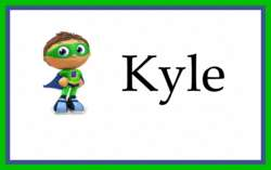 Personalized luggage backpack diaper bag tag SUPER WHY