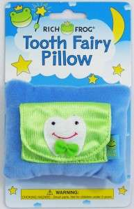 Fairy Pillow With Pocket Rich Frog Blue Green White Cute Design