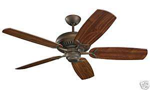 NEW MONTE CARLO DC60 ROMAN BRONZE CEILING FAN 5DCR60RB