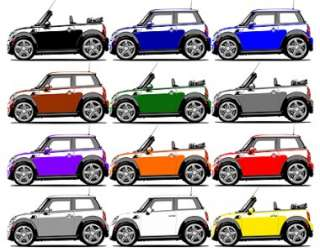 Mini Cooper Cool Car Art Cartoon Tshirt NEW