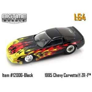 Chevy Corvette ZR 1 with Flames 164 Scale Die Cast Car Toys & Games