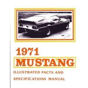 1971 FORD MUSTANG Facts Features Sales Brochure Book