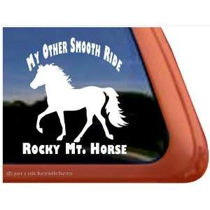 My Other Smooth Ride Rocky Mountain Horse Trailer Vinyl Window Decal