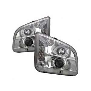 05 06 Ford Mustang Projector Head Lights Chrome LED