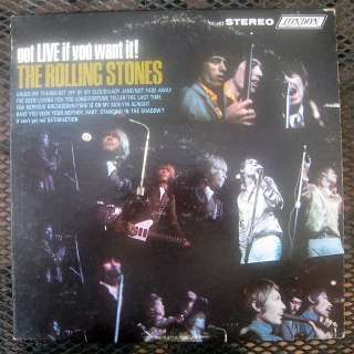 THE ROLLING STONES GOT LIVE IF YOU WANT IT PS 493 LP