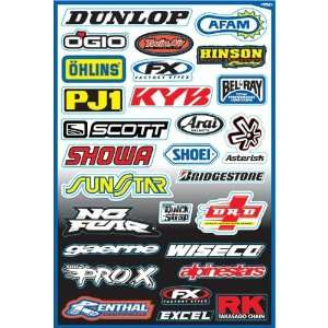 Factory Effex Kit A Sponsor Sticker Kit Quad ATV Graphic