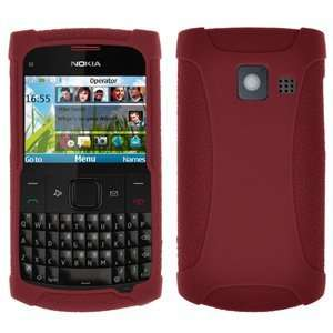 High Quality Amzer Silicone Skin Jelly Case Maroon Red Nokia X2 01
