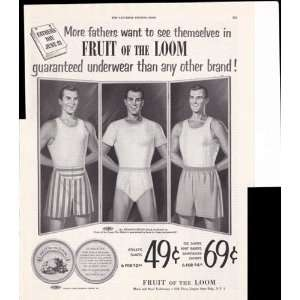 Fruit Of The Loom Mens Underwear 1953 Original Vintage