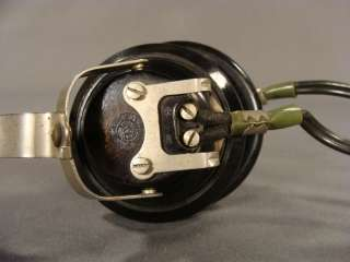 WWII GERMAN OFFICER RADIO BAKELITE HEADPHONES HEADSET