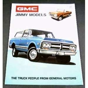 1972 72 GMC JIMMY Truck SUV BROCHURE Super Custom 4wd