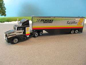 Racing Champions Diecast Tractor Trailer Transport Penske #2 Rusty