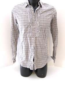 Diesel Mens XL Slim Fit Asaffru Dress Shirt Tan Check