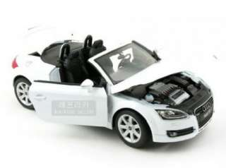New 118 AUDI TT Roadster Coupe Open Diecast Model Car With Box White