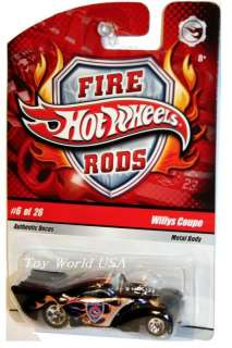 Hot Wheels 2009 Fire Rods #6 Willys Coupe