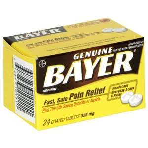 Bayer Aspirin Pain Reliever/ Fever Reducer (325 mg), 24 Count Tablets