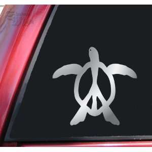 Peace Honu Hawaiian Sea Turtle Vinyl Decal Sticker   Shiny