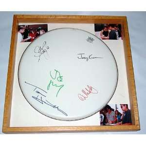 Aerosmith Autographed Signed Drumhead & Proof PSA/DNA