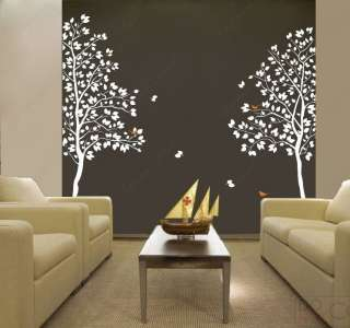Four big birch trees 102 H   Vinyl Wall art decals