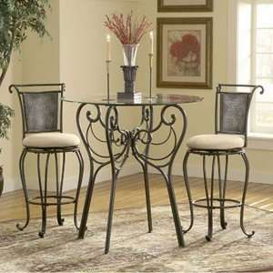 Piece Pewter Bar Height Bistro Table Set