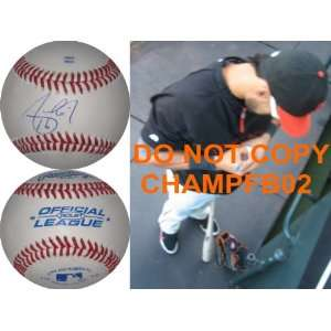 ANGEL PAGAN,SAN FRANCISCO GIANTS,SIGNED,AUTOGRAPHED,BASEBALL WITH COA