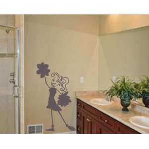 Girl Sports Vinyl Wall Decal Sticker Mural Quotes Words Cheerleaderv