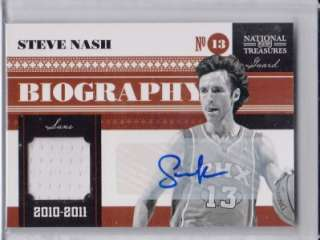 SP AUTO #03/10 2010 11 National Treasures Biography Materials   Suns