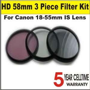 58mm 3 Piece Digital Filter Kit (includes UV, CPL and FLD Filters