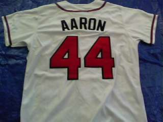 1974 Atlanta Braves Throwback Hank Aaron Signed Autographed Jersey w