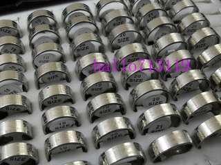 WHOLESALE 100 silver mix STAINLESS STEEL RING