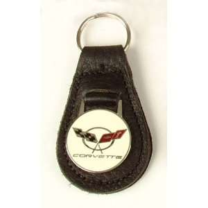 C5 Corvette Black Leather Key Fob
