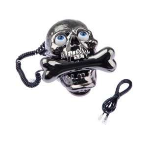 Cool Wired Skull Skeleton Cored Telephone Family Phone