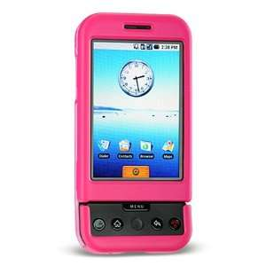 Hot Pink Rubberized Snap on Hard Skin Cover Case for Htc
