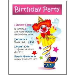Clown Birthday Party Invitation Toys & Games