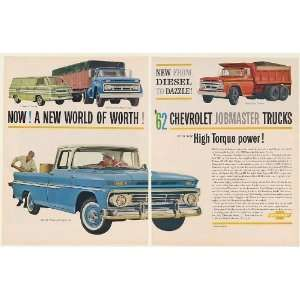 1962 Chevy Fleetside Pickup Corvair 95 Corvan Medium Heavy Duty Trucks