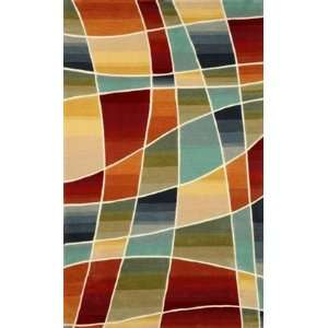 Trans Ocean Amalfi Collage Multi Rug   5 x 7 6